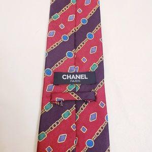 Chanel 100% Silk Multicolor Tie
